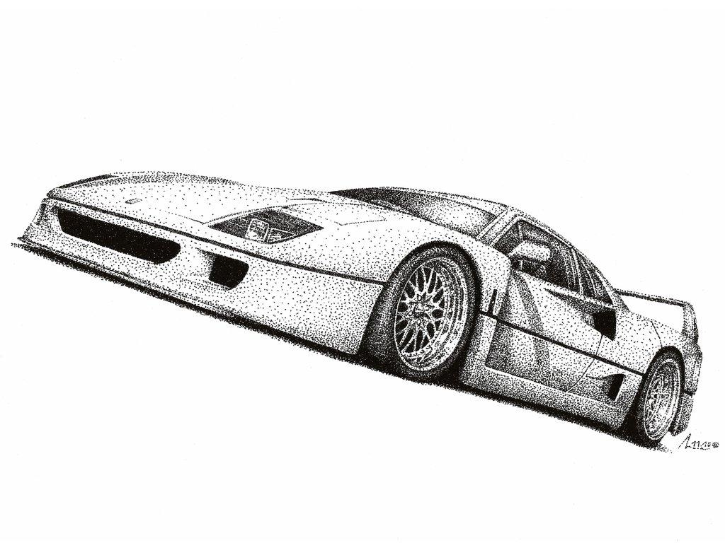 Drawn ferarri wallpaper Ferrari on Medvezh F40 F40