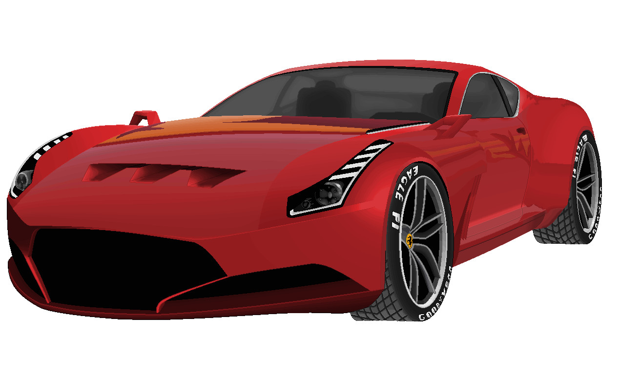 Drawn ferarri wallpaper Ferrari 612 2 MSPaint 612