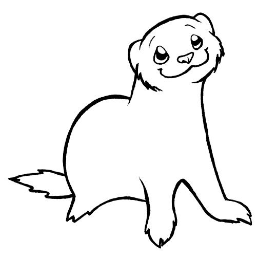 Drawn ferret Ferret Warrior Lineart Ferret spikysshadow