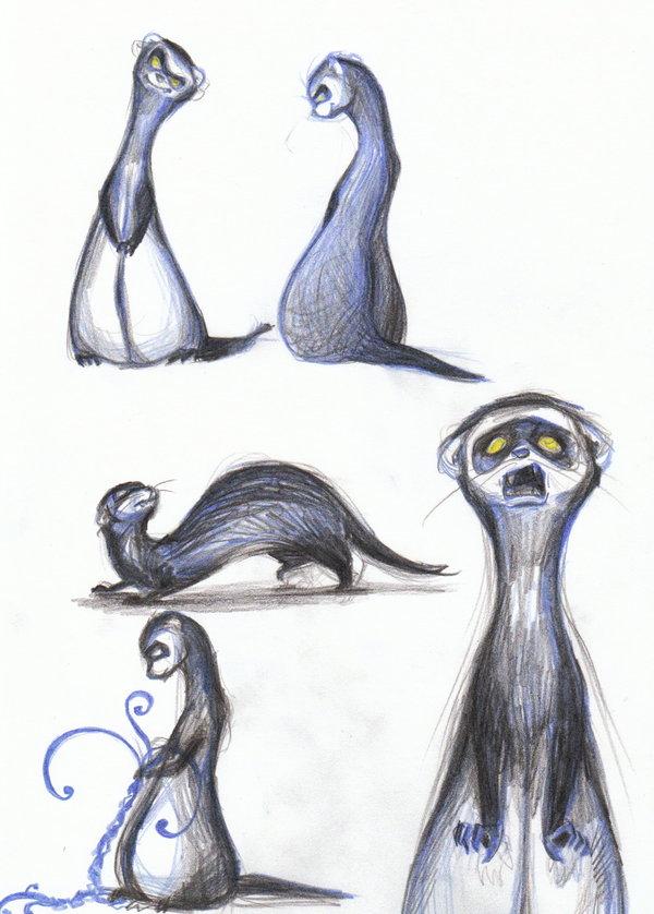 Drawn ferret Sketch by by sketch Ferret