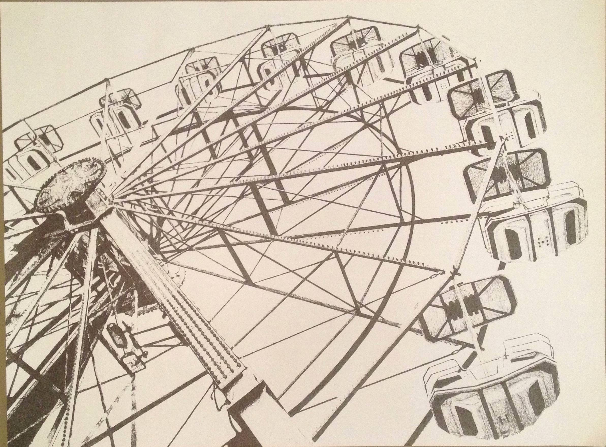 Drawn ferris wheel 18 18 24 in Ferris