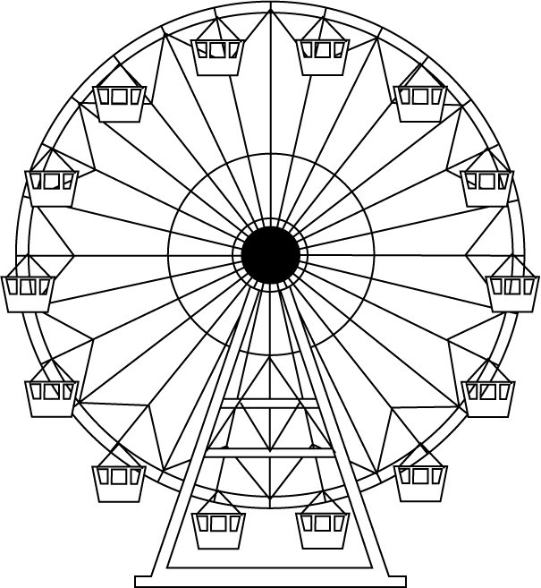 Drawn ferris wheel #3