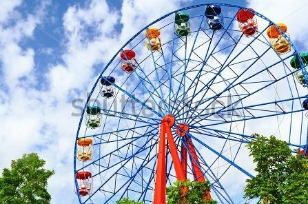 Drawn ferris wheel amusement park rides Park A Ride Funfair Wheel