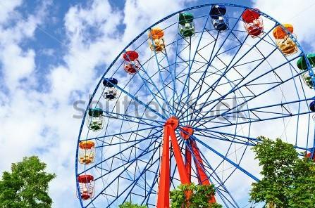 Drawn ferris wheel amusement park rides A Funfair Your Park Ferris