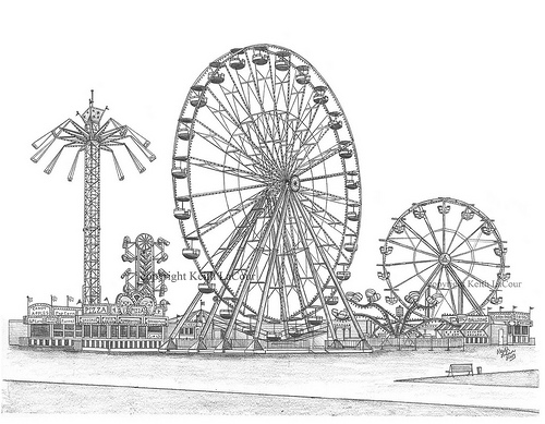 Drawn ferris wheel amusement park rides CARNIVAL drawings wheel ferris Search