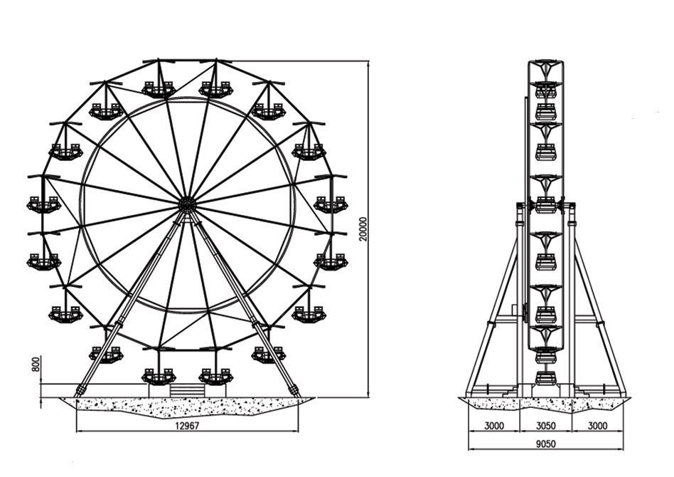 Drawn ferris wheel amusement park rides Rides 17 Amusement Amusement Park