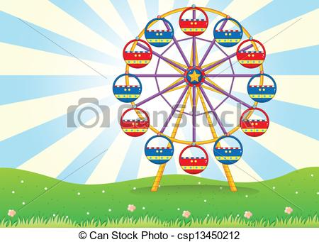 Drawn ferris wheel animated A the Graphics Wheel Vector