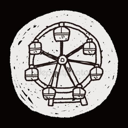 Drawn ferris wheel doodle #2