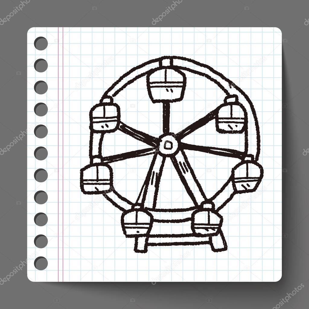 Drawn ferris wheel doodle #1