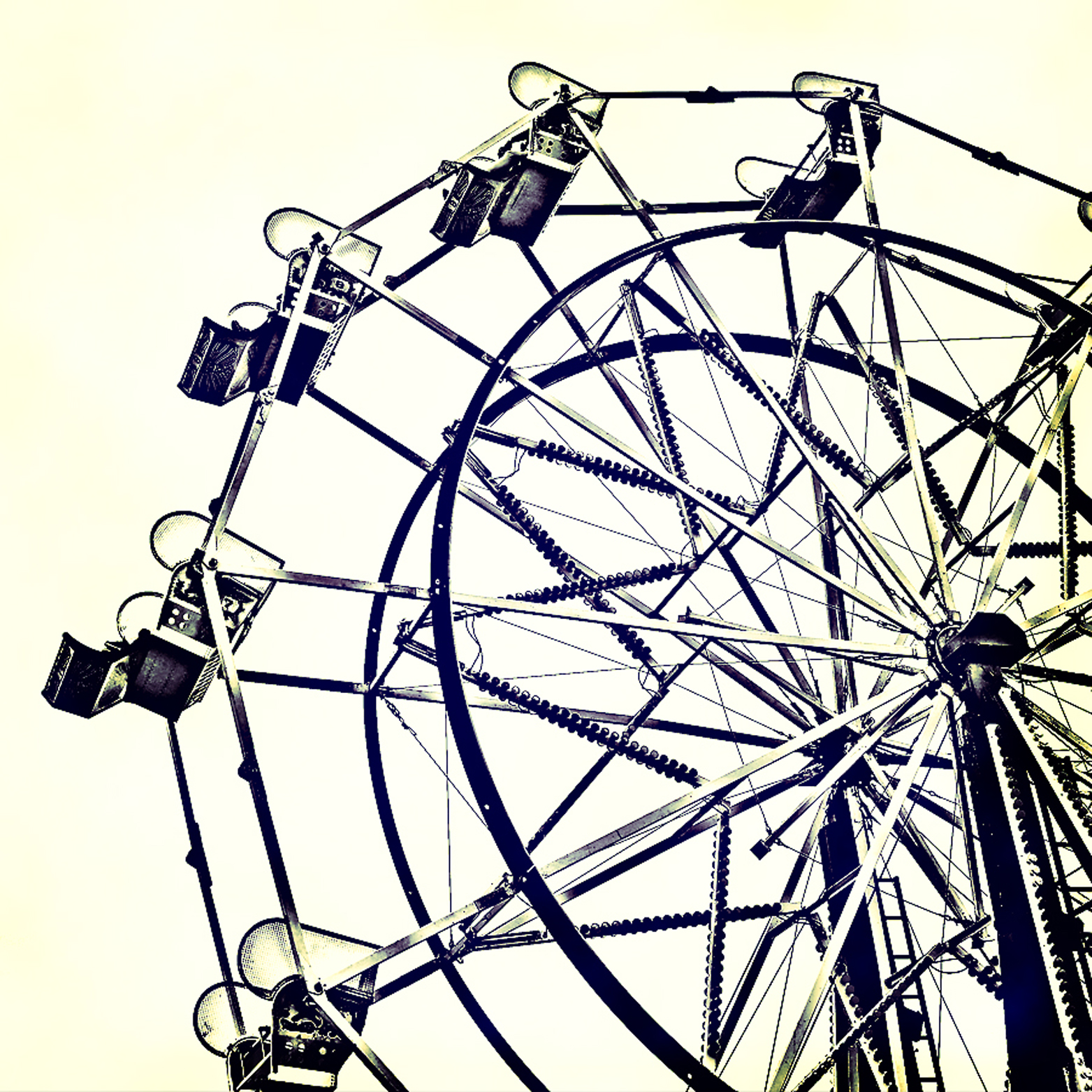 Drawn ferris wheel simple #10