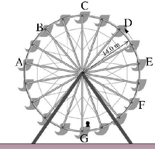 Drawn ferris wheel simple #8