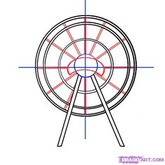 Drawn ferris wheel simple #7