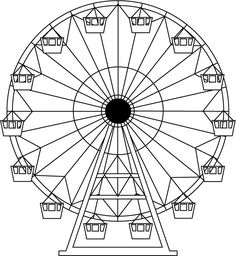 Drawn ferris wheel simple #9