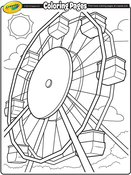Drawn ferris wheel simple #13