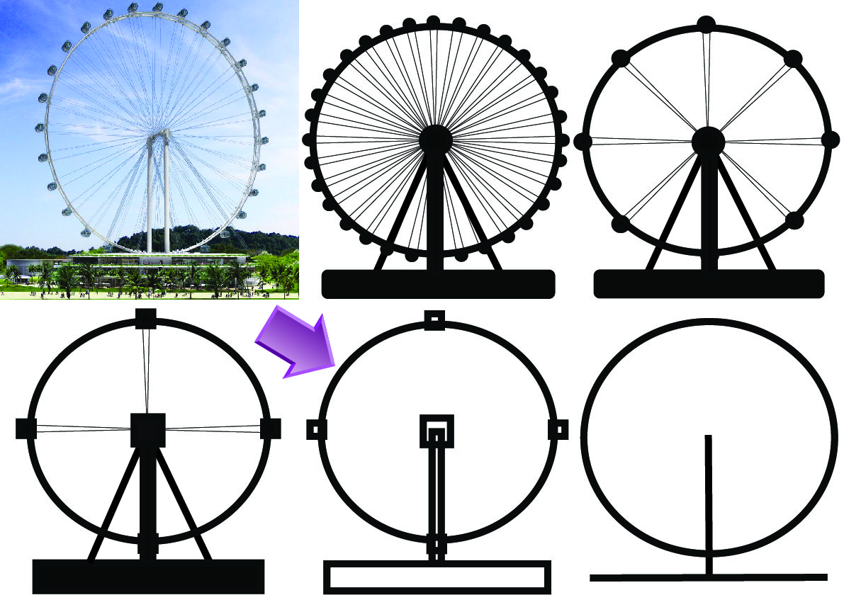 Drawn ferris wheel simple #12