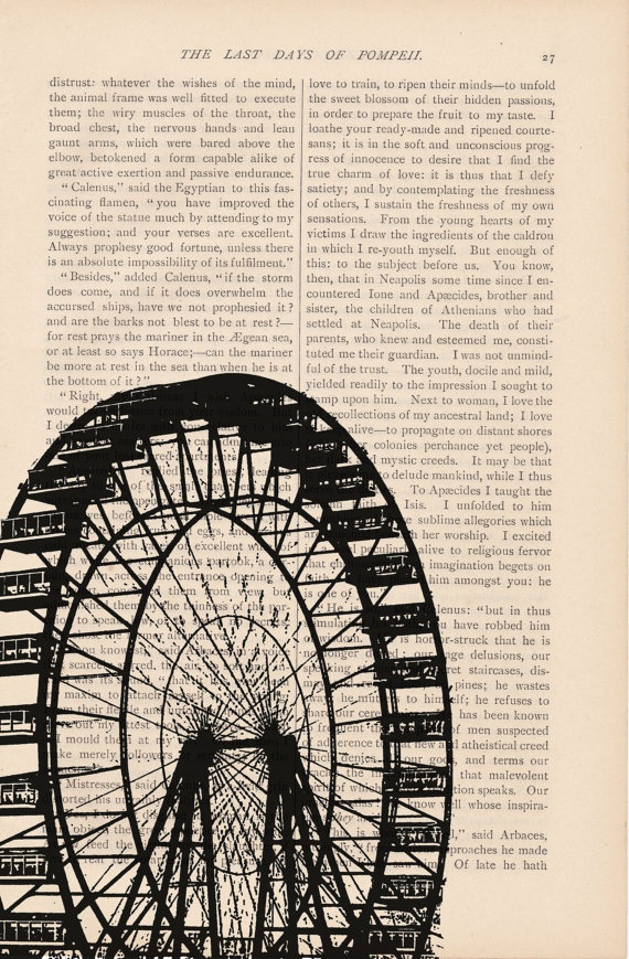 Drawn ferris wheel vintage On book a FERRIS of