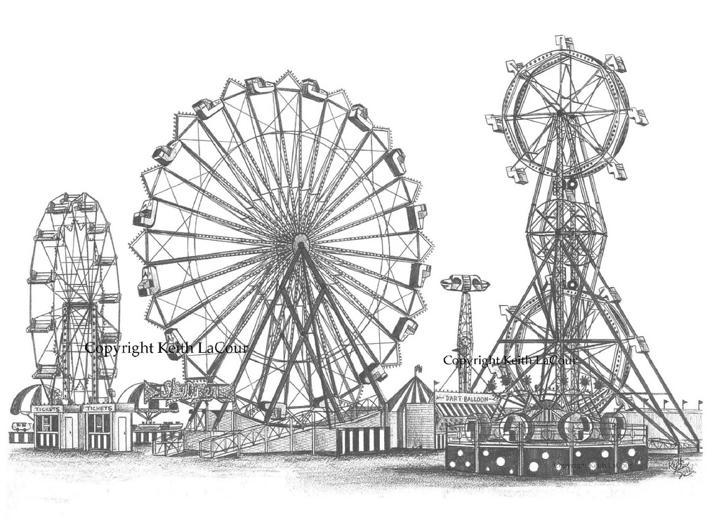 Drawn ferris wheel vintage Vintage Drawing Ferris DrawingFerris Wheel