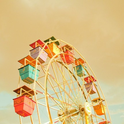 Drawn ferris wheel vintage Game photography Vintage vintage wheel