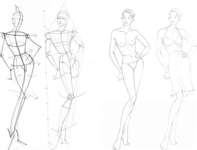 Drawn figurine draw Fashion Figure Search Google