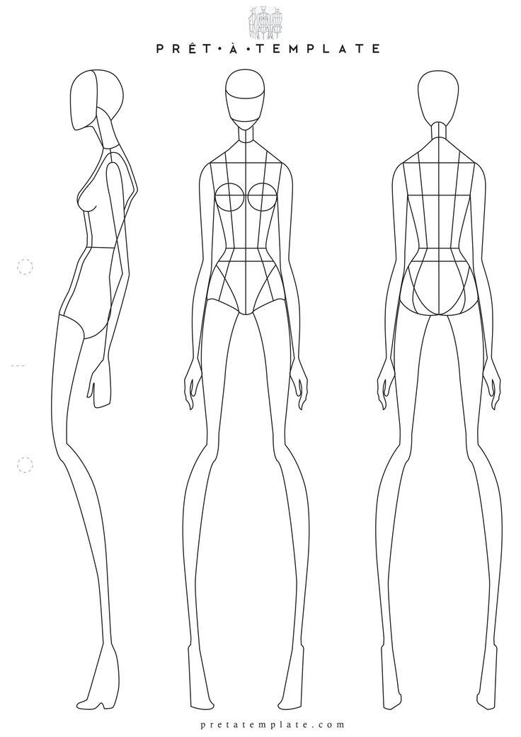 Drawn figurine body Pinterest Fashion figure (D