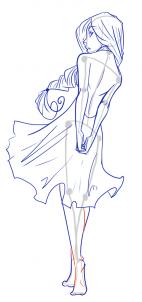 Drawn figurine body base Draw by step to draw