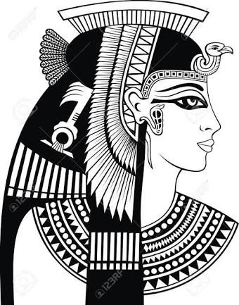 Drawn figurine cleopatra  Egyptian Cleopatra tattoo drawing