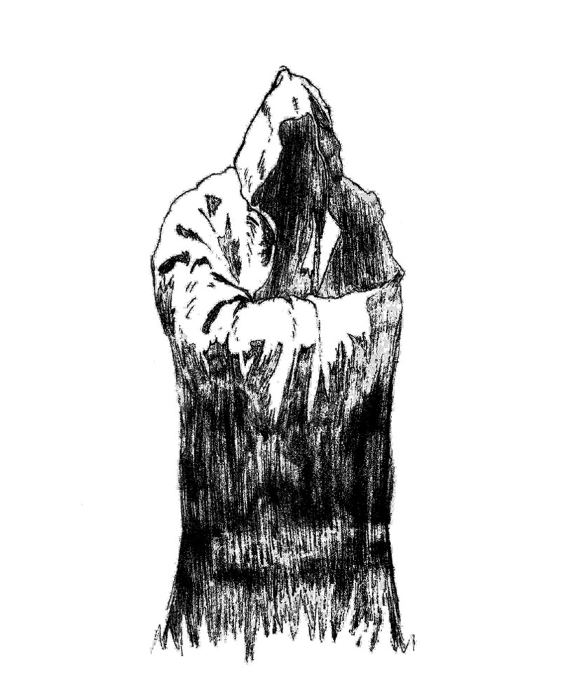 Drawn figurine cloaked Hooded DeviantArt PastShadow by Hooded