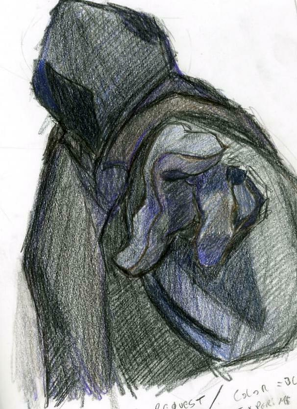 Drawn figurine cloaked Black Figure Source: Vvisitingmexico Drawing