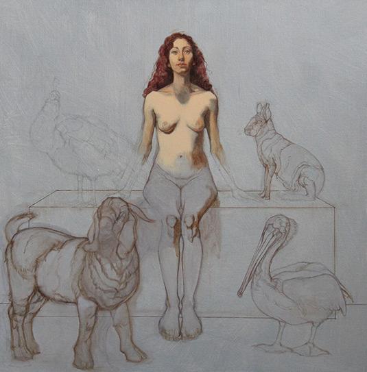 Drawn figurine composition Patricia Traub Traub Realist Art