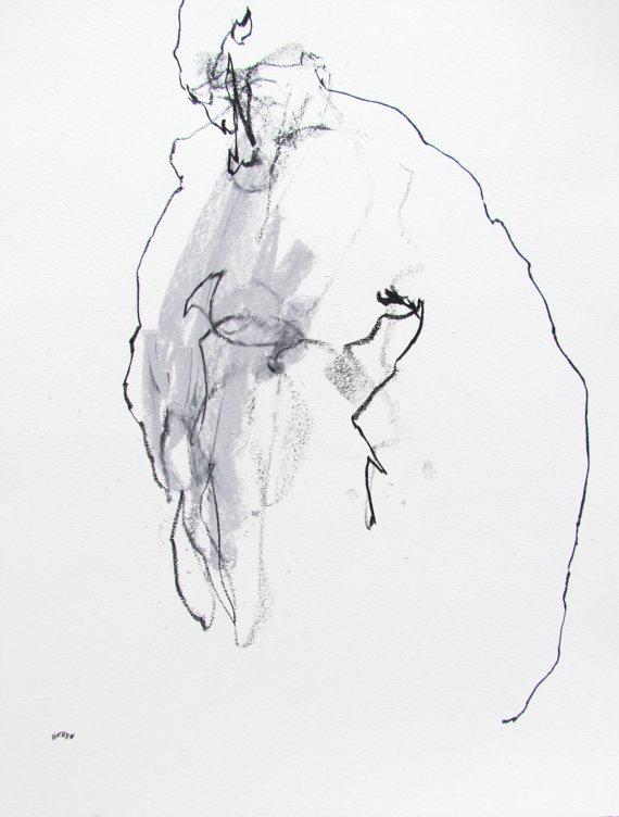 Drawn figurine composition Paper preparation Figure 14