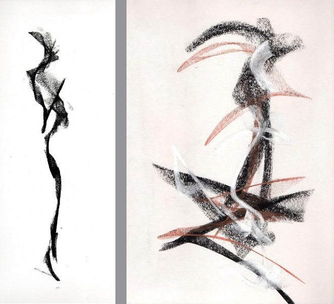 Drawn figurine contemporary 2 Richard Contemporary Figurative Contemporary