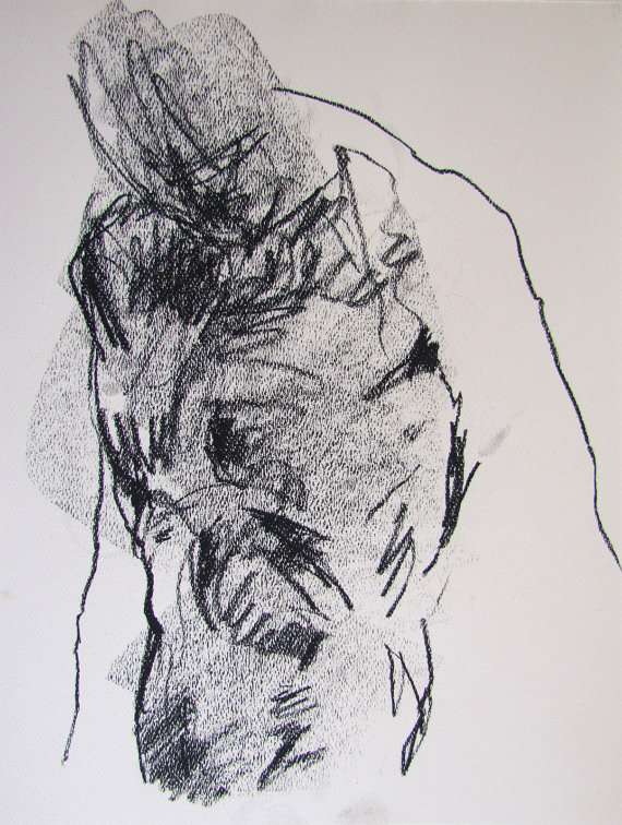 Drawn figurine contemporary Paper on Male original 55