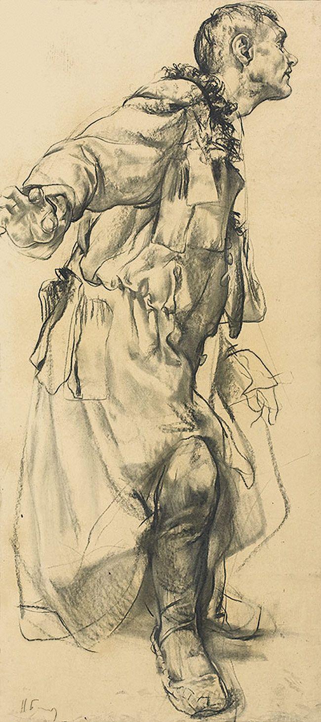 Drawn figurine contemporary Figure Contemporary figure (b standing