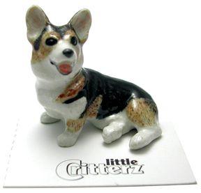 Drawn figurine corgi Images on Fever porcelain figurine