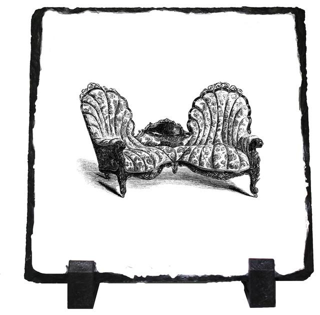 Drawn figurine couch Decorative Walnut Walnut Stone Vintage