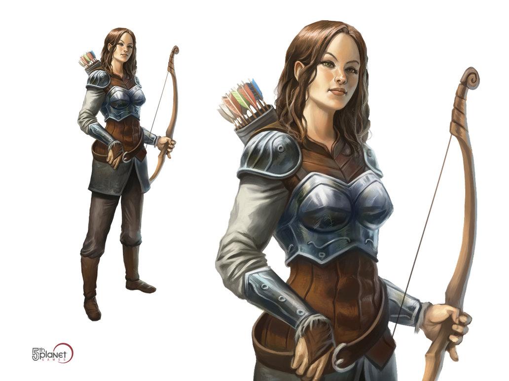 Drawn figurine female archer D DeviantArt DeviantArt on by