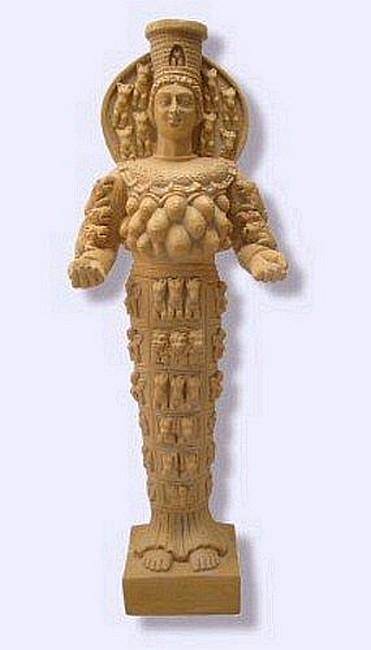 Drawn figurine female archer Ephesus Statues ephesus Diana diana