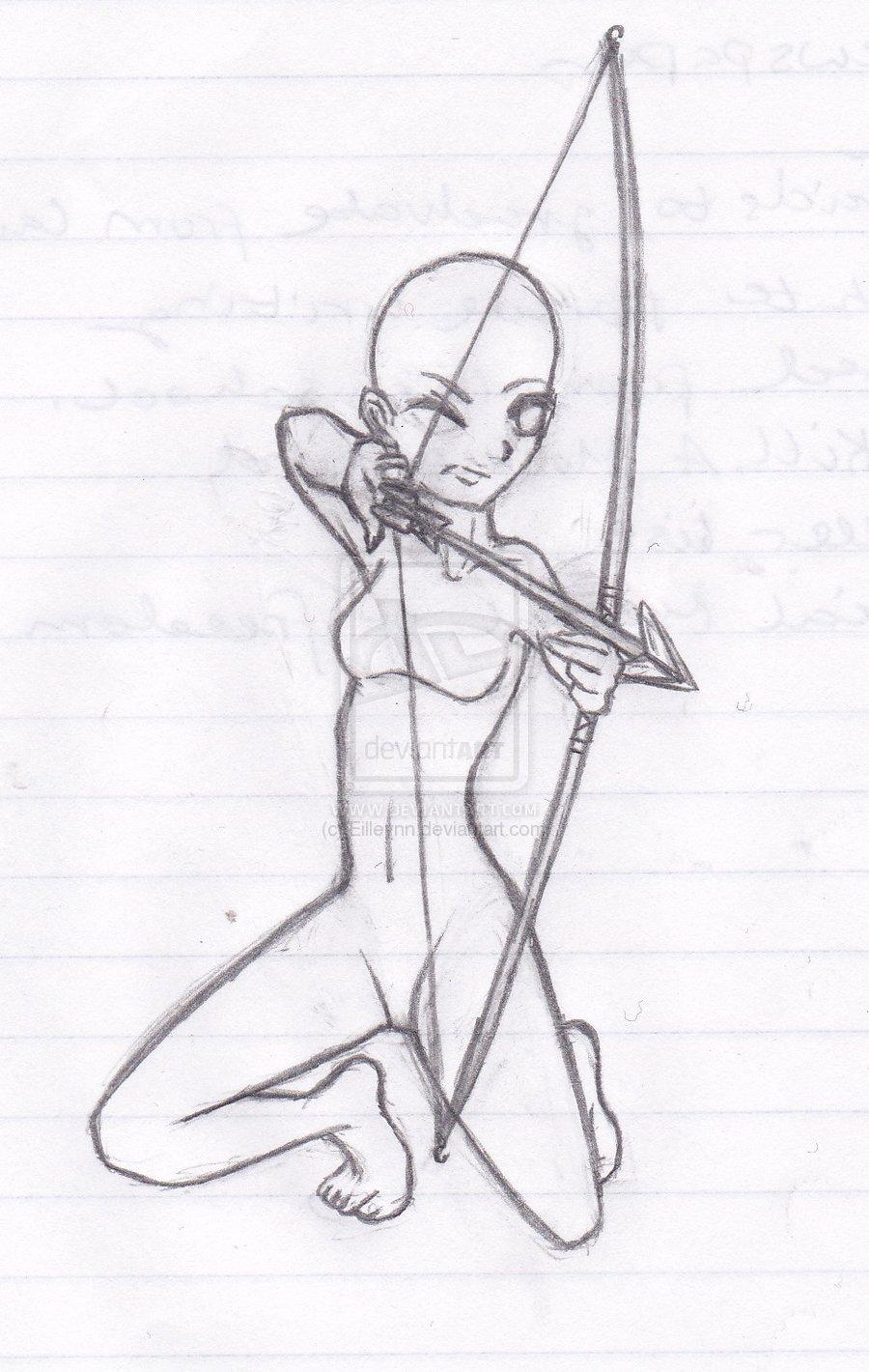 Drawn figurine female archer Draw Definetely archery character An