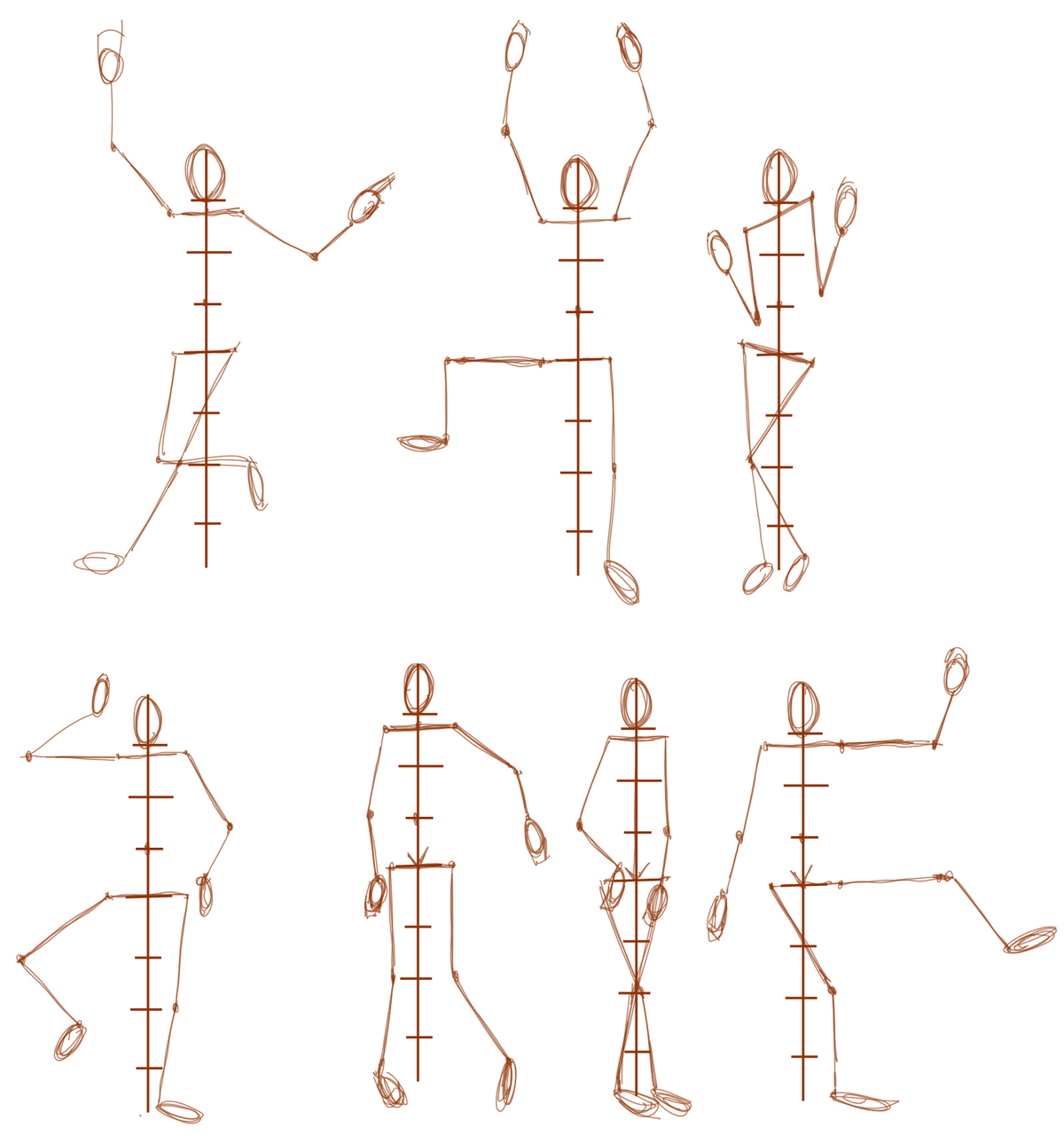 Drawn figurine human being Different Figures Drawing figure Correct