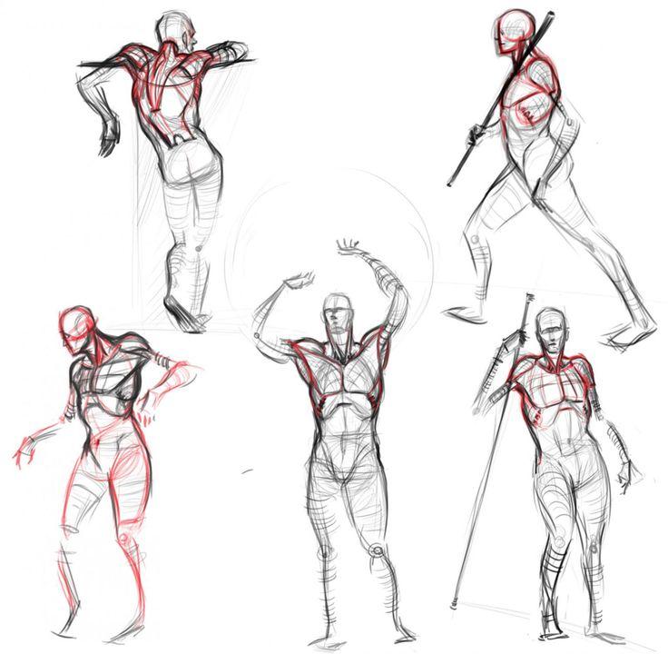 Drawn figurine human reference Pose & drawing Gesture Pose