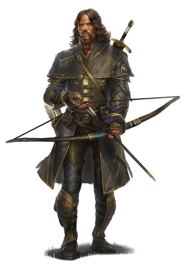 Drawn figurine male archer On Pin best Fantasy Archers