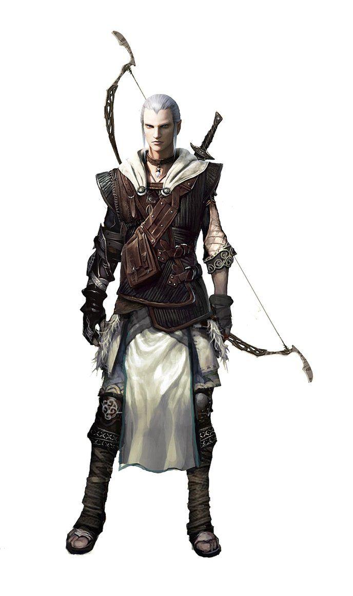 Drawn figurine male archer Images Archer Archers Bows Best