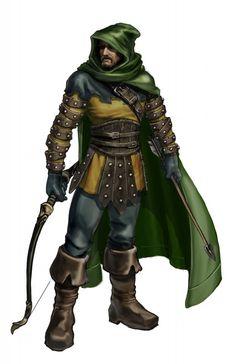 Drawn figurine male archer Style Pin Archer is Archers
