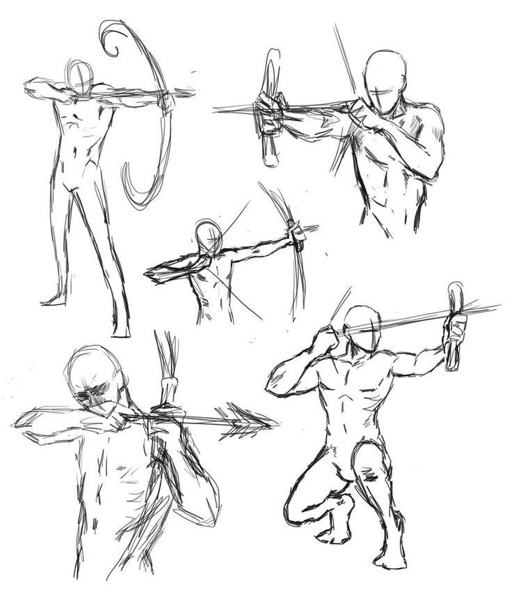 Drawn figurine male archer Poses Pin 103 best Design