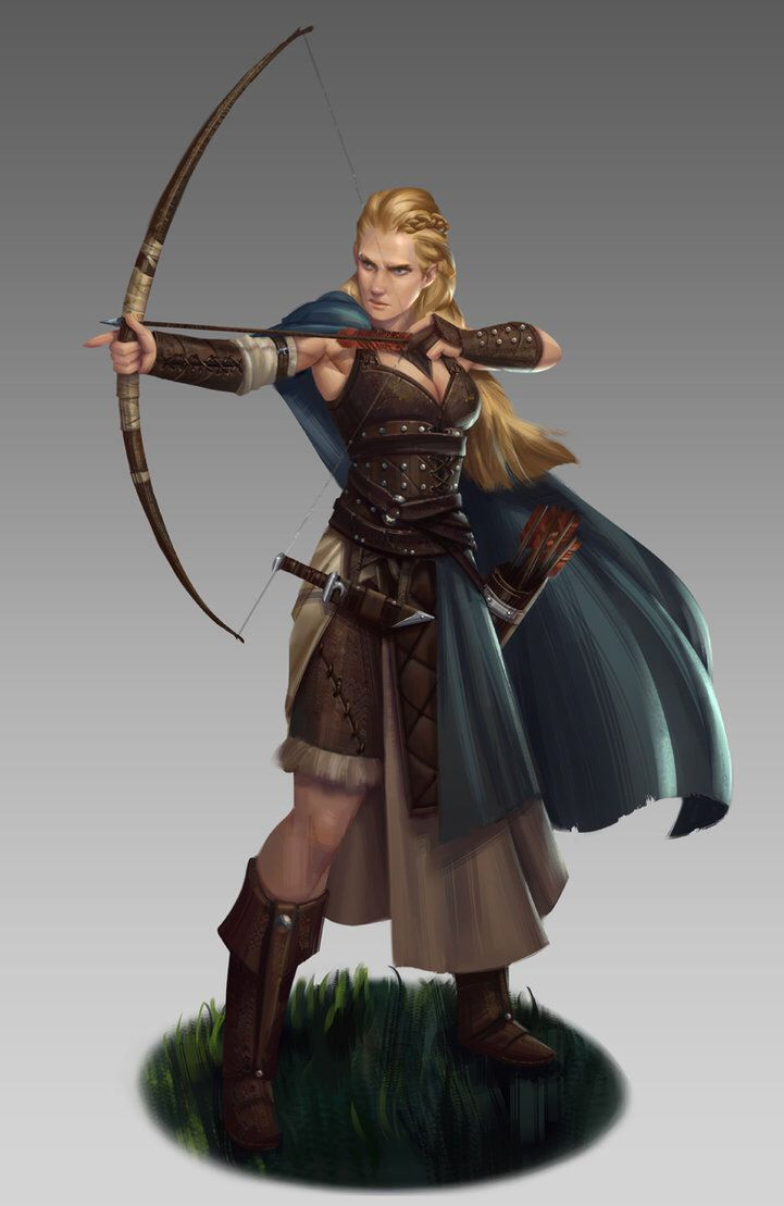 Drawn figurine male archer NathanParkArt images on Fantasy on