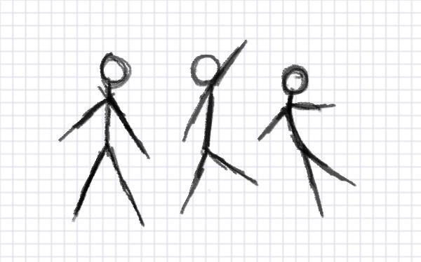 Drawn figurine match stick Guide Figure: a Final Draw