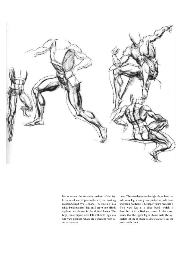 Drawn figurine motion Hogarth dynamic figure Burne 47