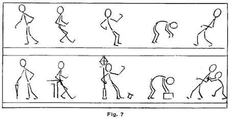 Drawn figurine motion In Action in & Figures