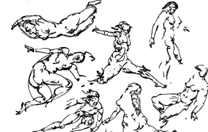 Drawn figurine motion People Running & Figures Drawing