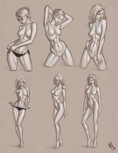 Drawn figurine pencil full body Jean study Inspired woman Drawing